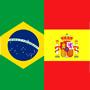 Bandera Brasil/España