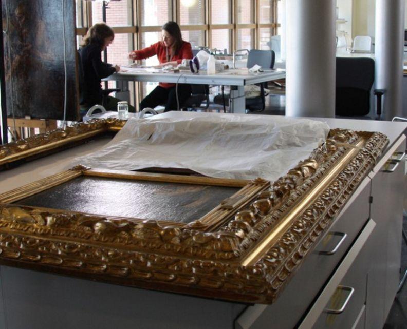 Historia del marco y su conservación