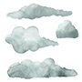 Vector illustration of watercolor clouds