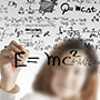 female draws maths and science formula