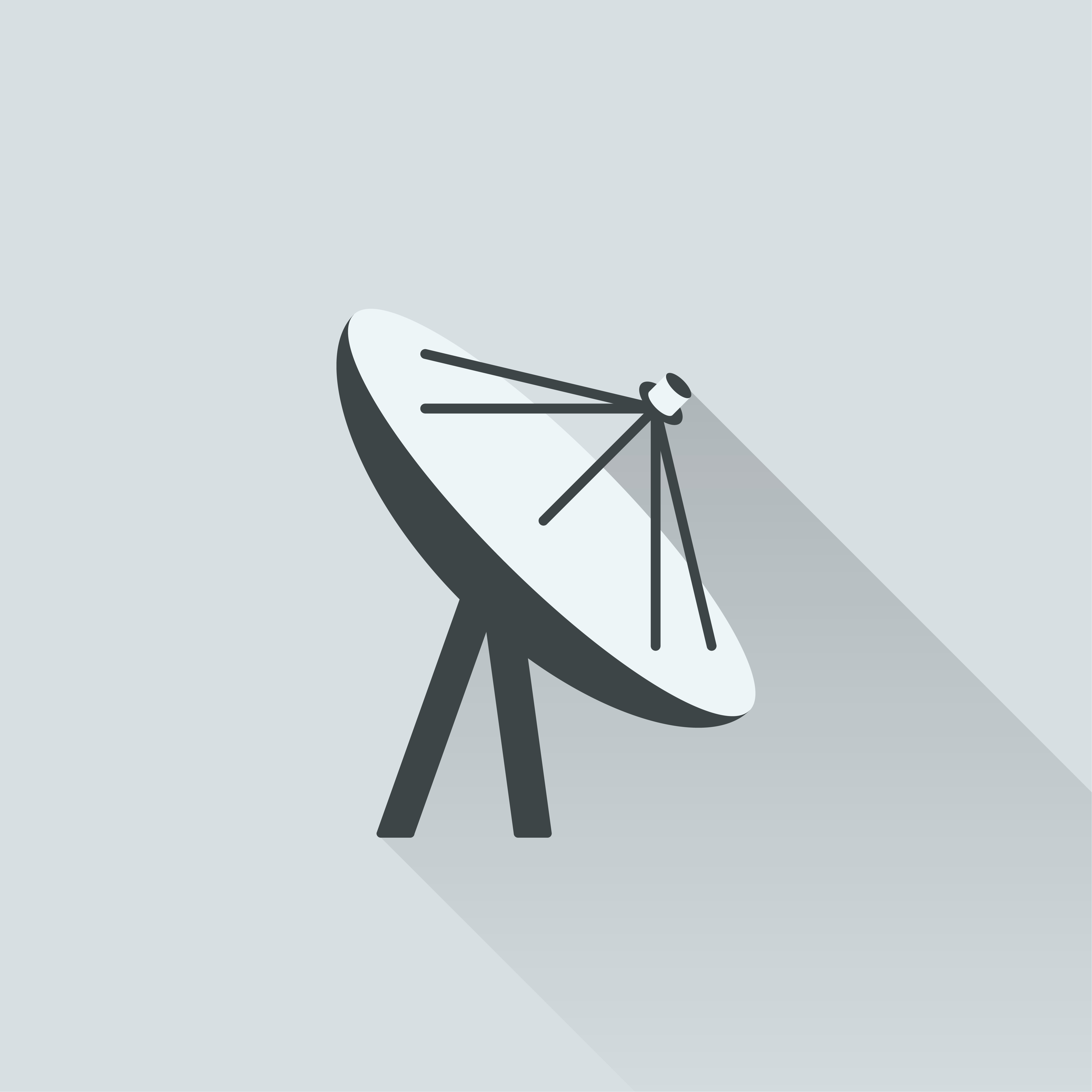 Illustration of satellite antenna